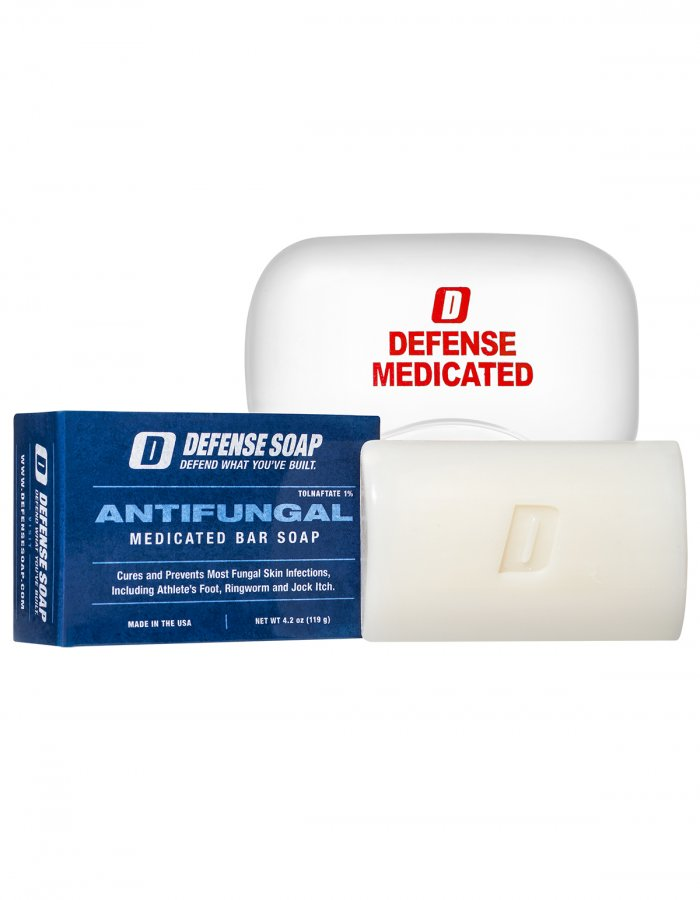 Defense Antifungal Medicated Bar Soap + Soap Dish